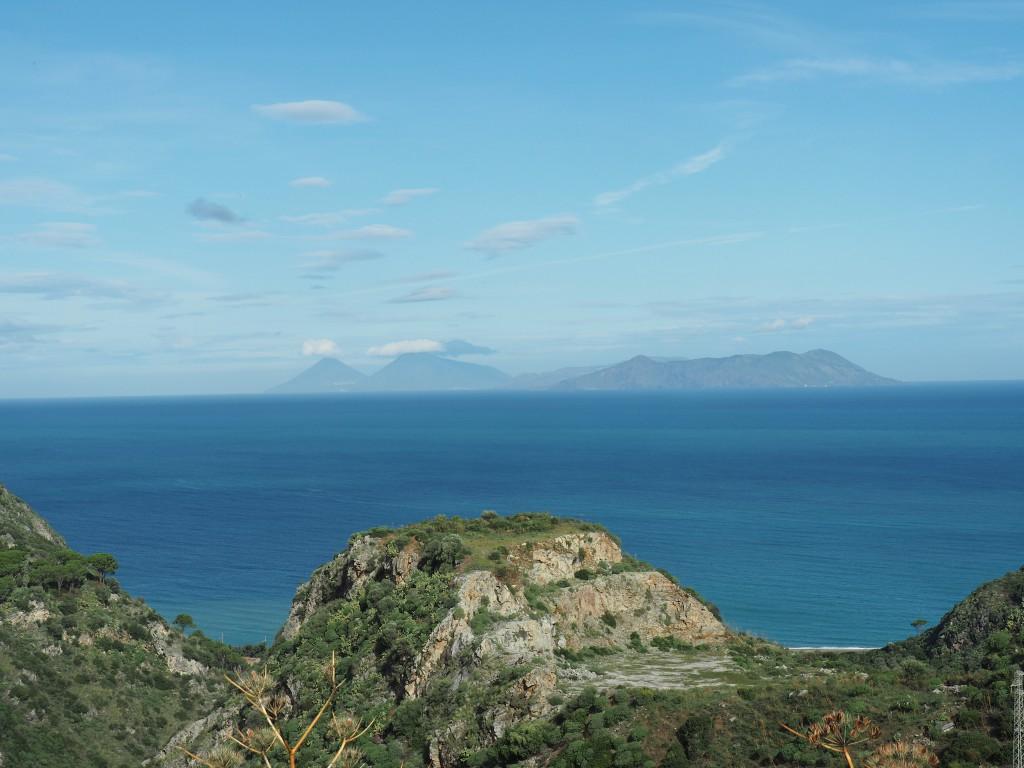 Blick auf Äolische Inseln