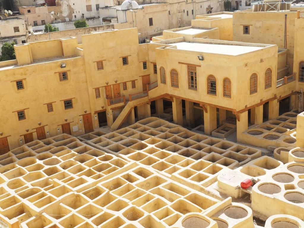 Die Färbetöpfe wurden mit UNESCO-Mitteln neu errichtet