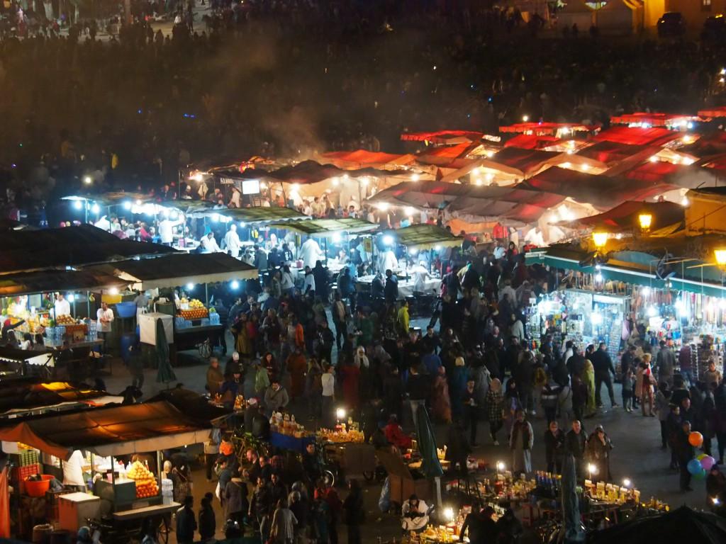 Marrakesch bei Nacht