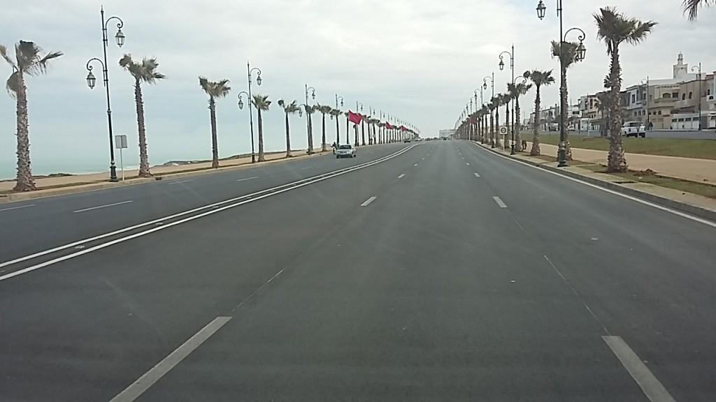 Boulevard nach Rabat