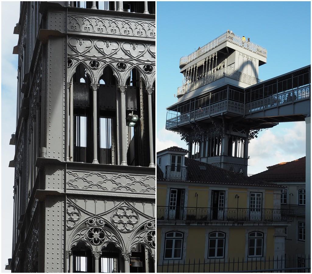Schmiedeeisener Turmschaft mit filigraner Verzierung, Neogotik pur! Vom Aufzug führt eine Brücke in die Oberstadt