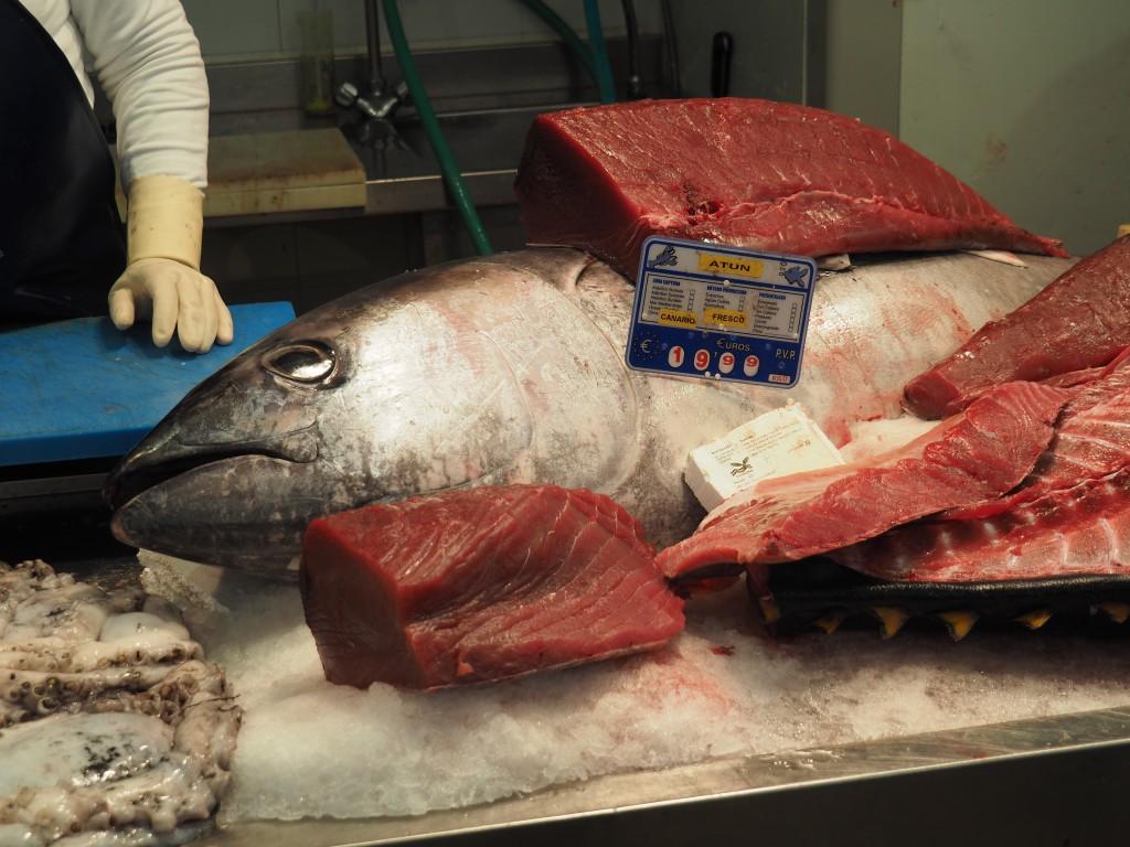 Tunfisch - die besten Stücke grillten wir am Abend- sooo lecker!