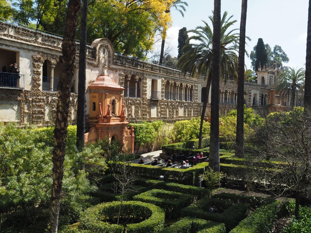 Garten in der Reales Alcázares
