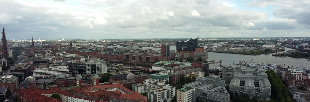 Blick auf Hamburg von St. Michaelis