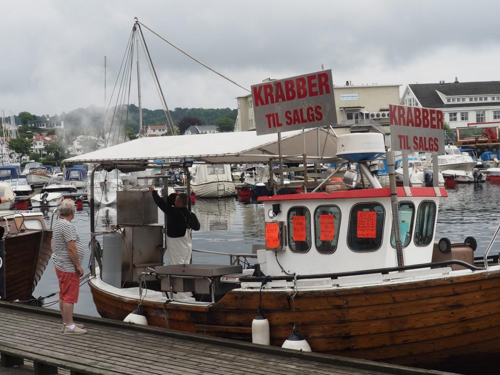 Krabbenverkauf in Grimstad
