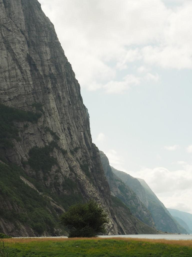 Blick von Lysebotn auf den Lysefjord